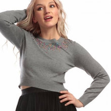 Load image into Gallery viewer, Bright & Beautiful Mabel Sequin Cropped Jumper