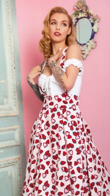 Alexa Strawberry Swing Skirt