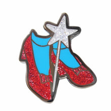 Load image into Gallery viewer, Ruby Slippers Enamel Pin
