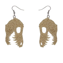 Load image into Gallery viewer, Erstwilder Fossil Glitter Resin Drop Earrings Gold