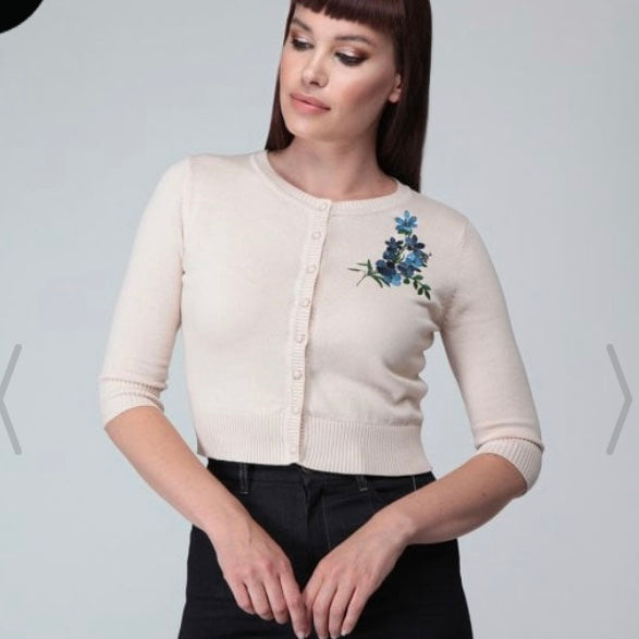 Collectif Lucy Forget Me Not Cardigan