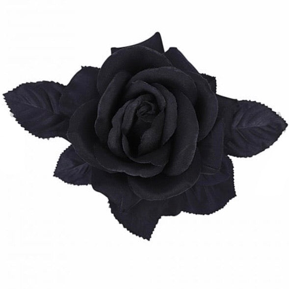 Loy Hair Flower Black