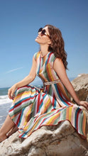 Load image into Gallery viewer, Bright & Beautiful Astrid Deckchair Dress