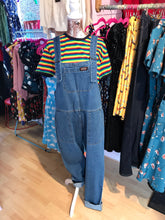 Load image into Gallery viewer, Run & Fly Blue Stone Washed Baggy Dungarees