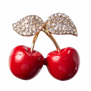 Cherry Picking Brooch