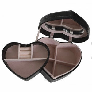 Mini Heart Jewellery Box Black