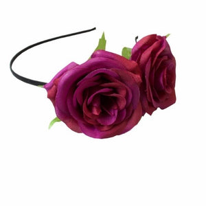 Carmen Rose Hairband Purple
