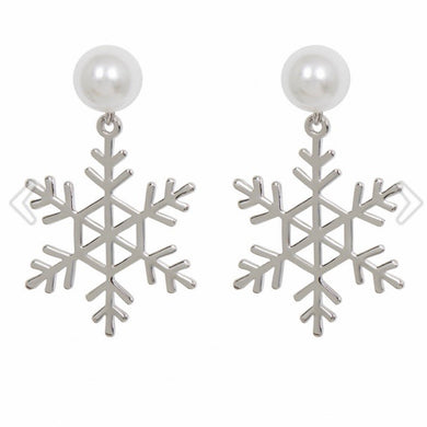 Jackie Frost Snowflake Earrings