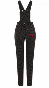 Collectif Madelyn Polka Dot Cherry Dungarees