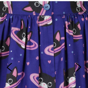 Lady Vintage Space Cats Skirt