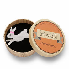 Load image into Gallery viewer, Erstwilder Marshmallow Rabbit Brooch
