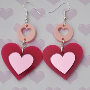 Multi Heart Earrings