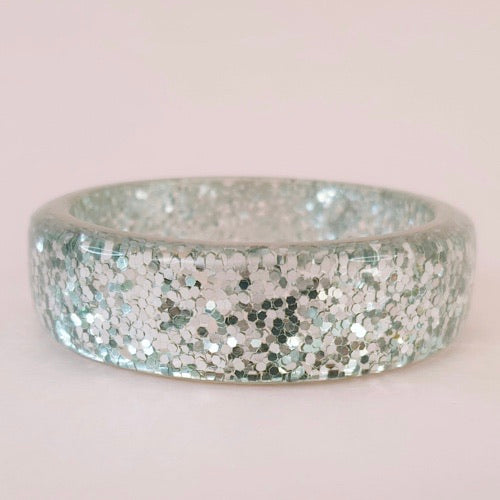 Billie Confetti Bangle Silver