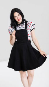 Dakota Pinafore Dress Black