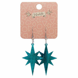 Erstwilder Starburst Ripple Glitter Resin Drop Earrings