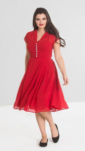 Hell Bunny Paige Dress Red