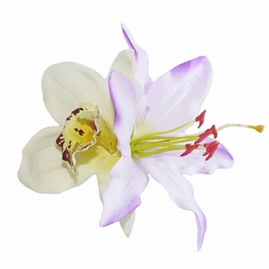 Orchid & Lilac Lily Hair Flower