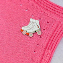 Load image into Gallery viewer, Rollicking Rollerskates Enamel Pin