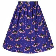 Load image into Gallery viewer, Lady Vintage Space Cats Skirt
