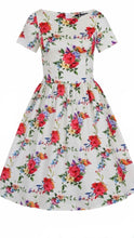 Load image into Gallery viewer, Eloise Dress Blossoming Poppy On Peach