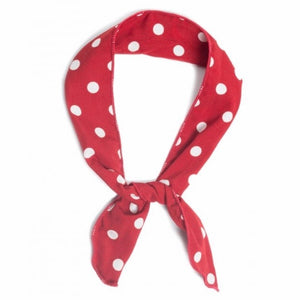 Polka dot wired bandana Red