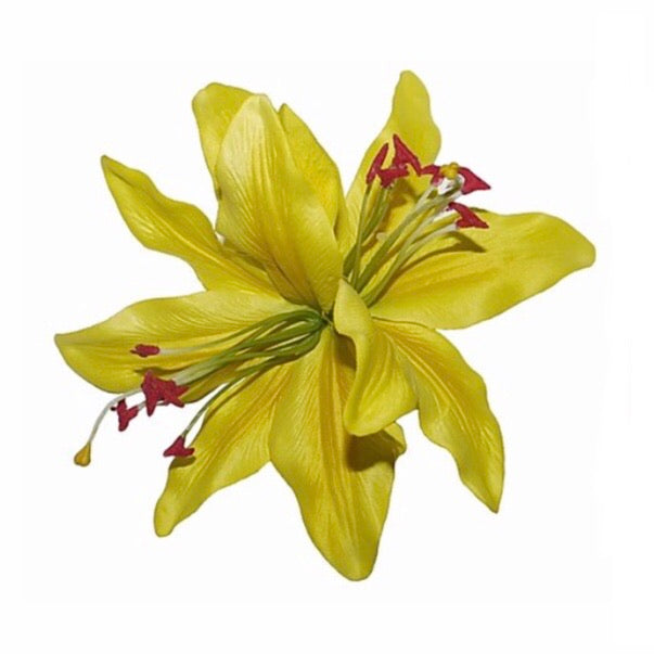 Double Yellow Lily Hair Flower