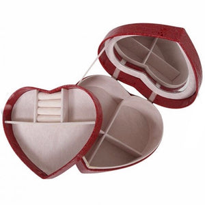 Emerson Large Heart Jewellery Box Red