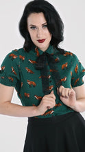 Load image into Gallery viewer, Green Vixey Blouse