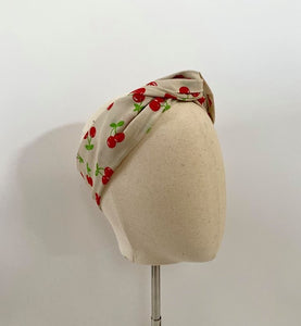 Cream Cherry Headwrap