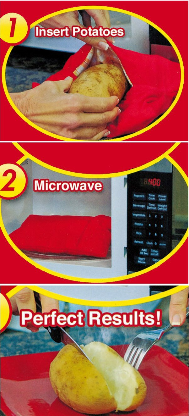 2pcs Microwave Potato Cooker Bag