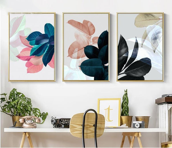 Colorful Leaves Wall Pictures - Bumluv