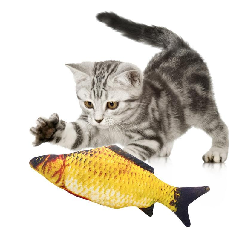 3D Fish Plush Cat Pet Toy Interactive Gifts Fish Catnip Toys Stuffed Pillow Doll Simulation Fish Playing Toy For Pet - Bumluv