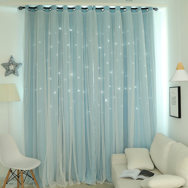 Hollow Star Thermal Insulated Blackout Curtains - Bumluv
