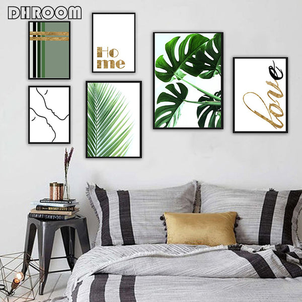Tropical Palm Leaf Green Plants Wall Art - Bumluv