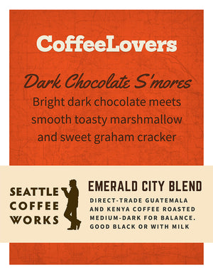 Emerald City Blend - Seattle Coffee Works - Dark Chocolate S'Mores