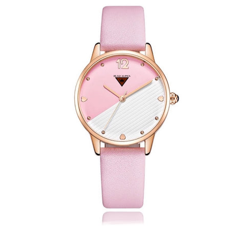 Swan • Pink & White Dial/Pink Leather