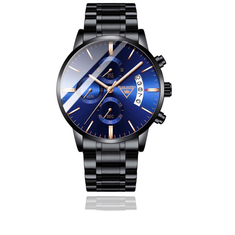 Otis • Blue Dial/Black Steel