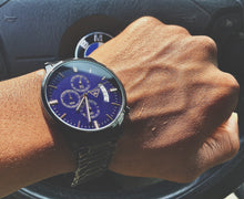 Load image into Gallery viewer, Otis  Navy Blue Dial/Black Stainless Steel Strap