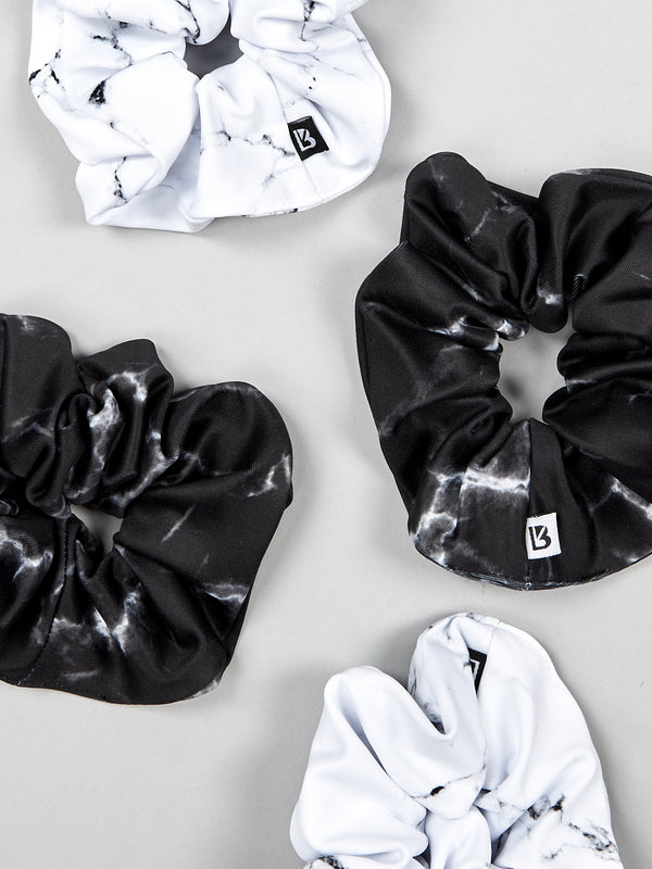 Scrunchies - Black Marble