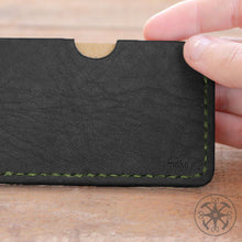 Load image into Gallery viewer, Black Leather Cardholder