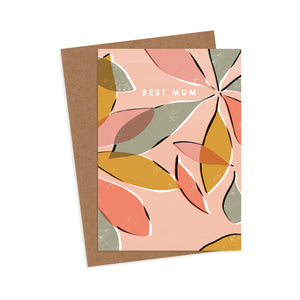 Best Mum Schefflera Nora Mother's Day Card