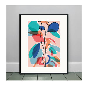 Baby Rubber Plant Pink A3 Art Print