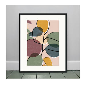 Baby Rubber Plant No. 1 A3 Art Print