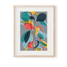 Load image into Gallery viewer, Baby Rubber Plant Grey Art Print