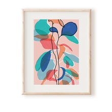 Load image into Gallery viewer, Baby Rubber Plant Pink Art Print
