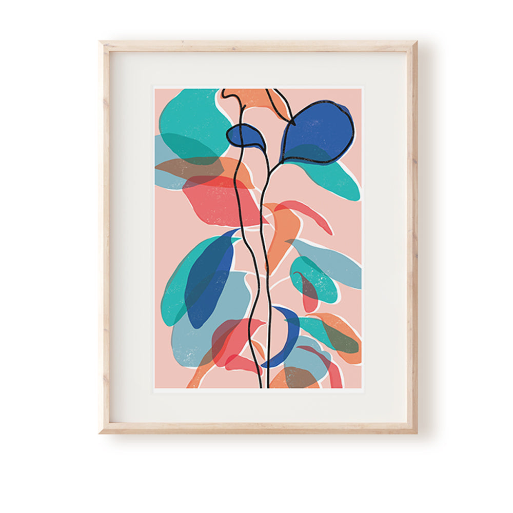 Baby Rubber Plant Pink Art Print
