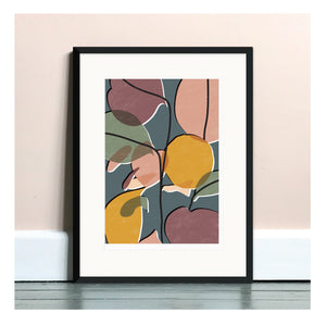 Baby Rubber Plant No. 2 A4 Art Print