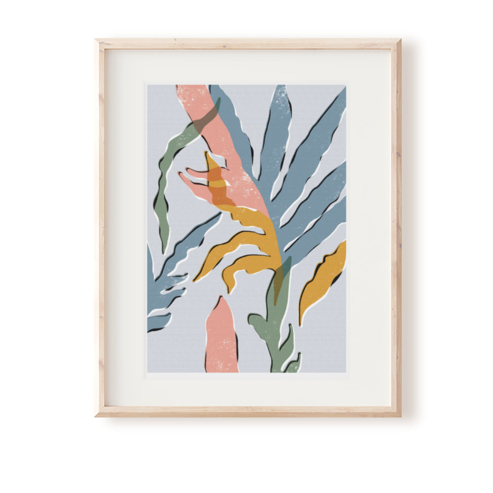 Blue Star Fern No. 2 Art Print
