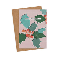 Load image into Gallery viewer, 6 Holly Christmas Cards