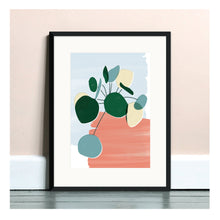 Load image into Gallery viewer, Pilea Pink A4 Art Print